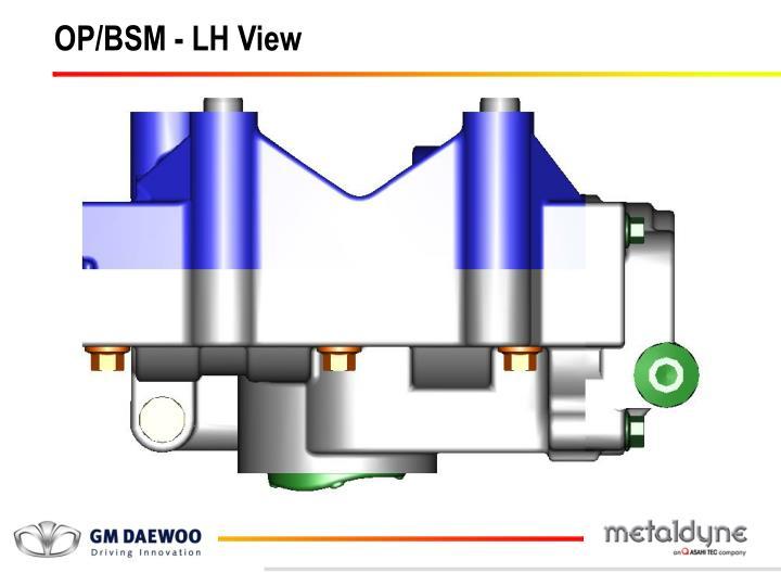 OP/BSM - LH View