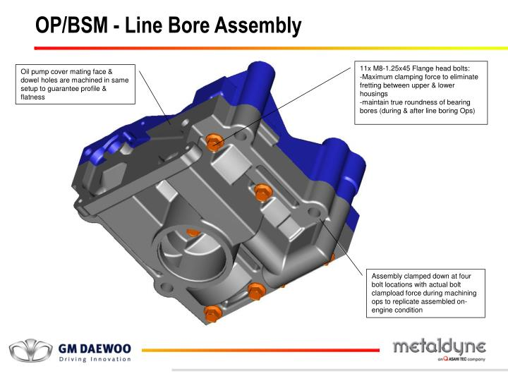 OP/BSM - Line Bore Assembly