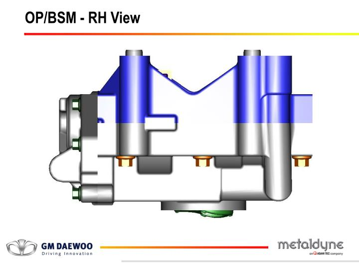 OP/BSM - RH View