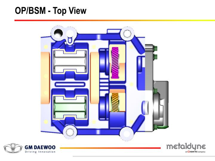 OP/BSM - Top View