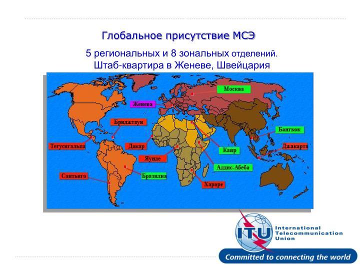 Глобальное присутствие МСЭ