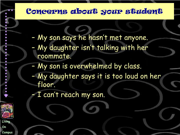 Concerns about your student