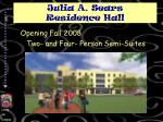 julia a sears residence hall