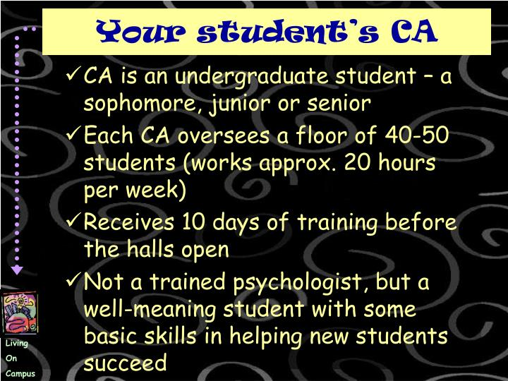 Your student's CA