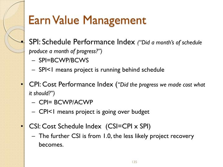 Earn Value Management