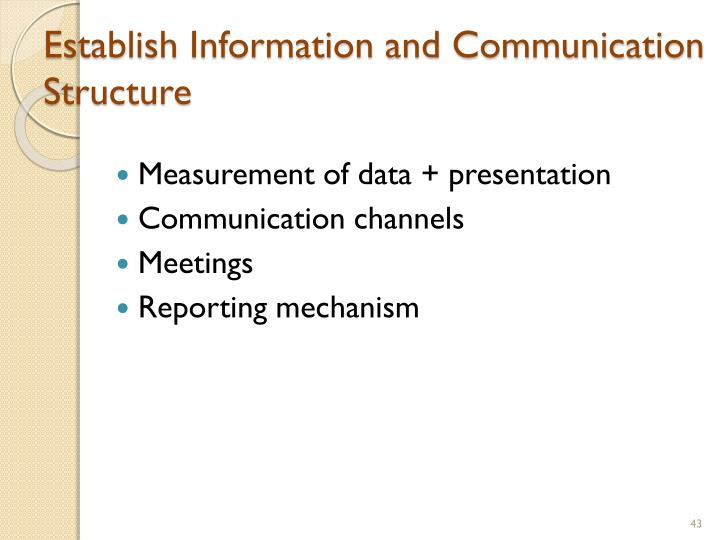 Establish Information and Communication Structure
