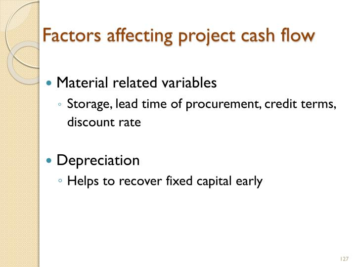 Factors affecting project cash flow