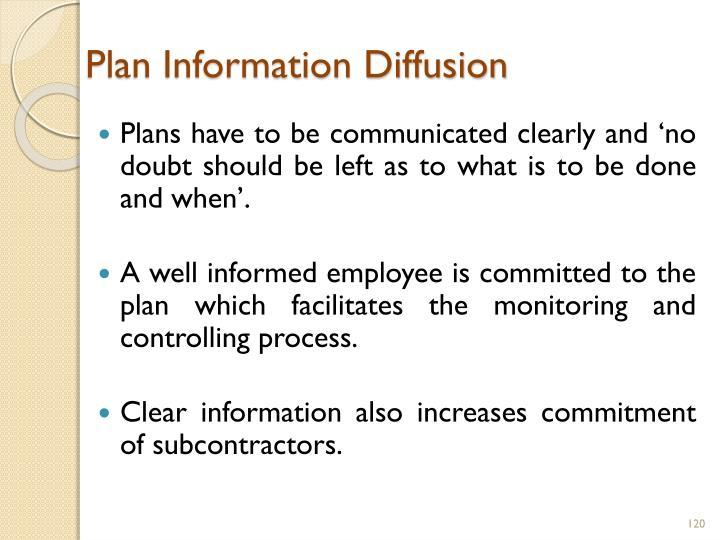 Plan Information Diffusion