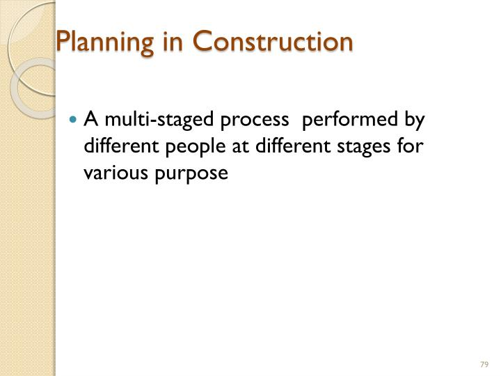 Planning in Construction