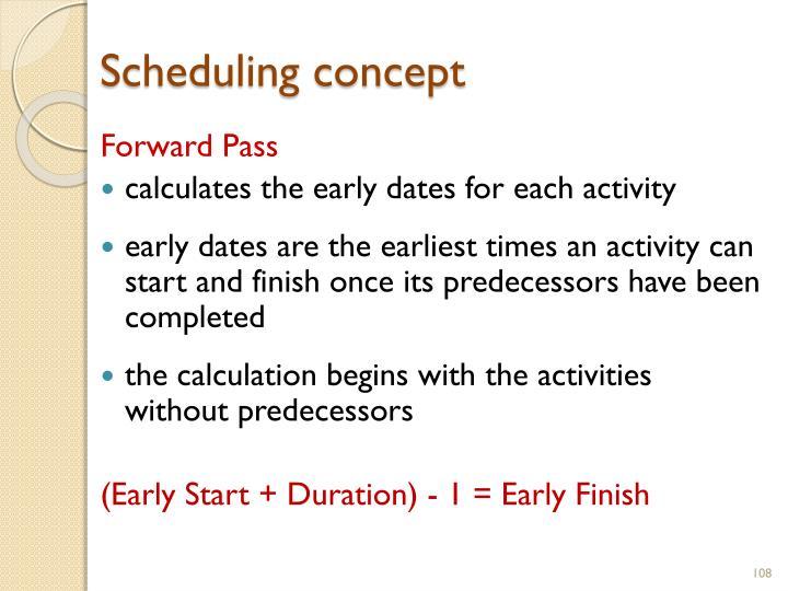 Scheduling concept