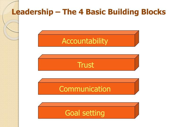 Leadership – The 4 Basic Building Blocks