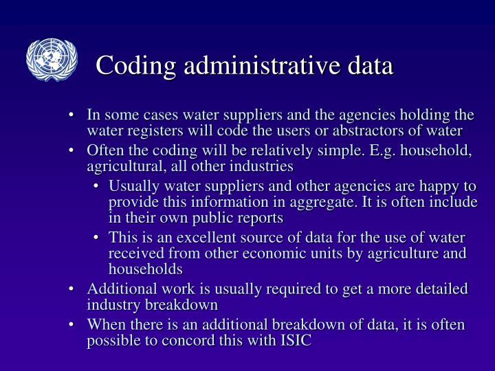 Coding administrative data