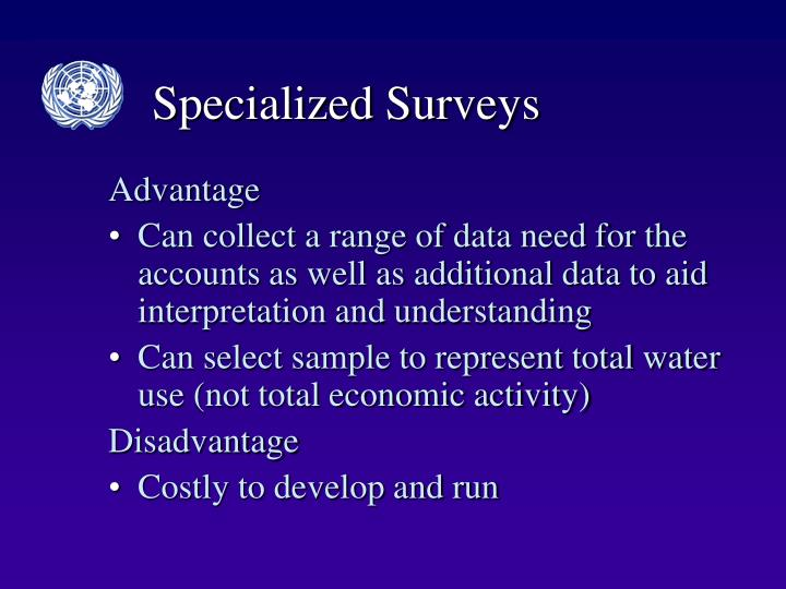 Specialized Surveys