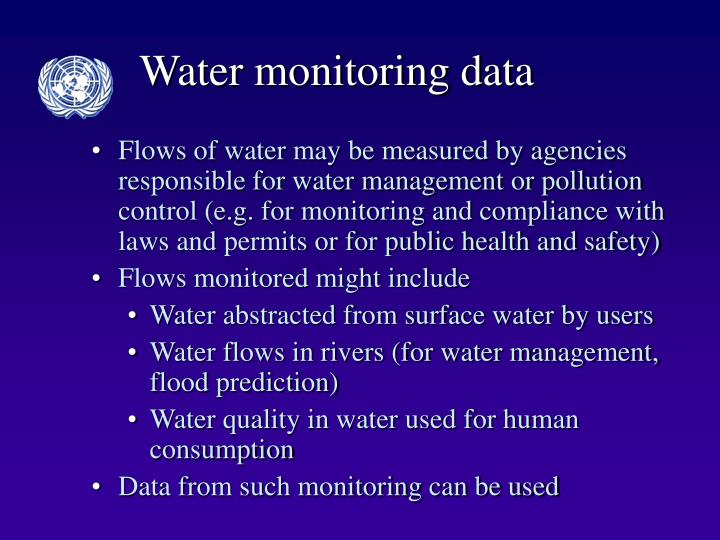 Water monitoring data