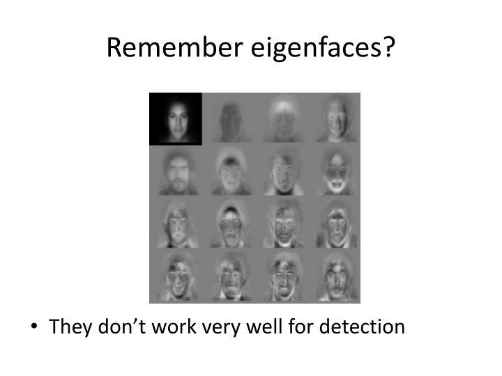Remember eigenfaces?
