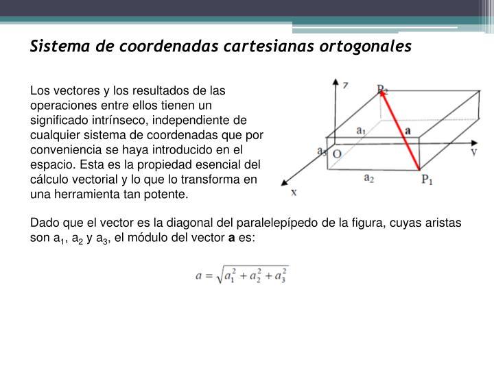 Sistema de coordenadas cartesianas ortogonales