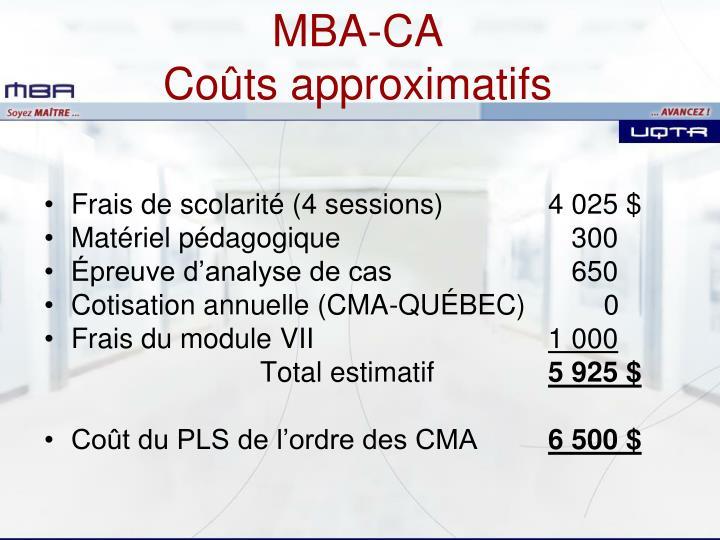 MBA-CA