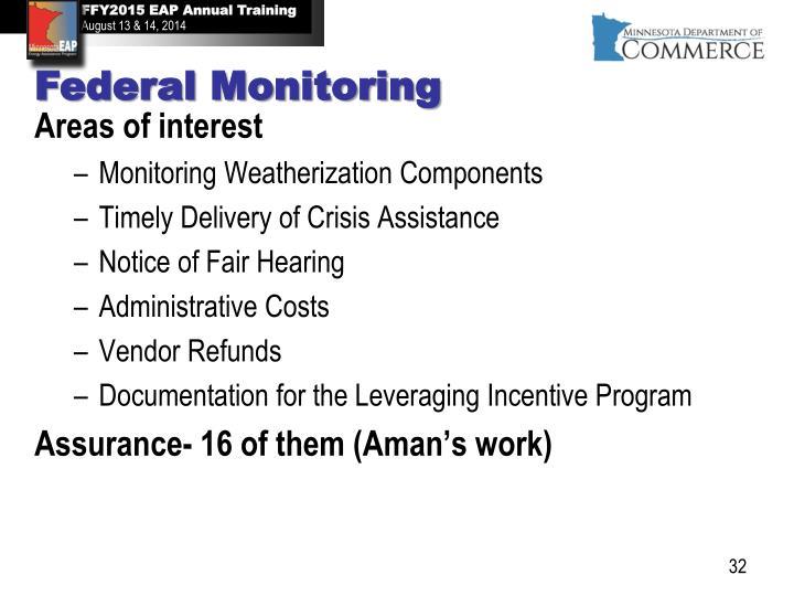 Federal Monitoring