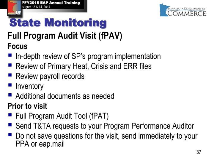 Full Program Audit Visit (