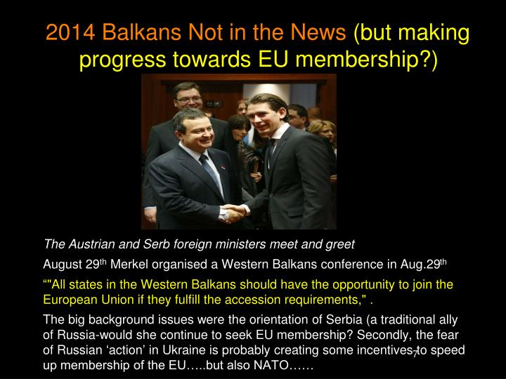 2014 Balkans Not in the News