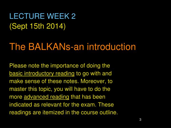 LECTURE WEEK 2