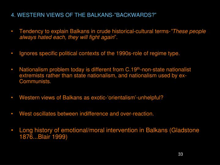 4. WESTERN VIEWS OF THE BALKANS-