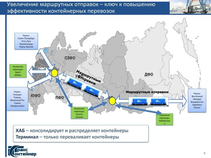Увеличение маршрутных отправок – ключ к повышению эффективности контейнерных перевозок