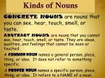 kinds of nouns