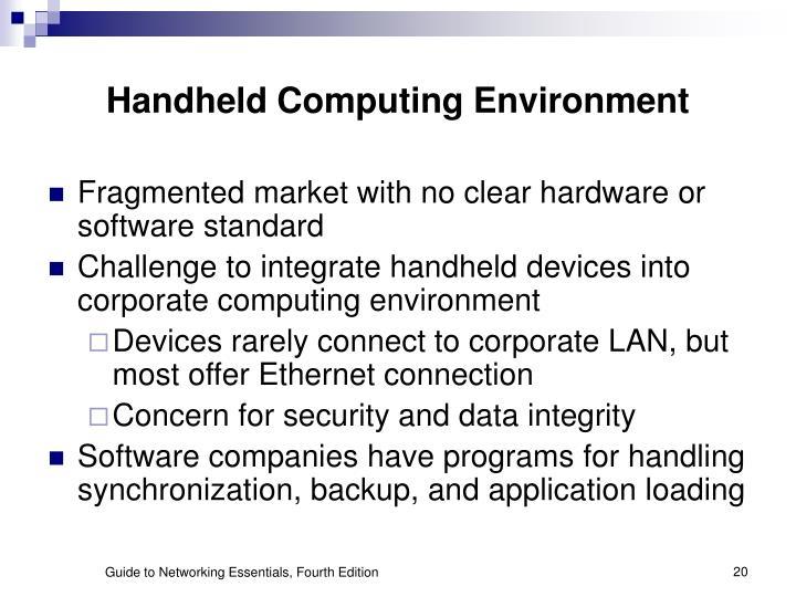 Handheld Computing Environment