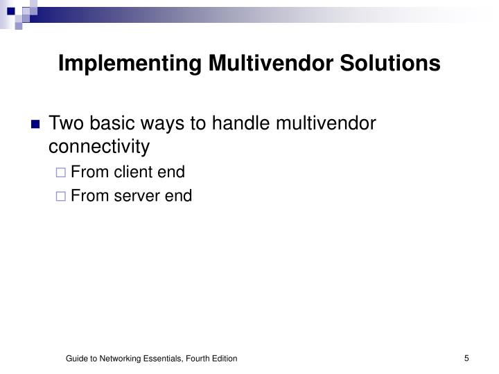 Implementing Multivendor Solutions