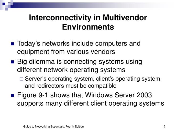 Interconnectivity in Multivendor Environments