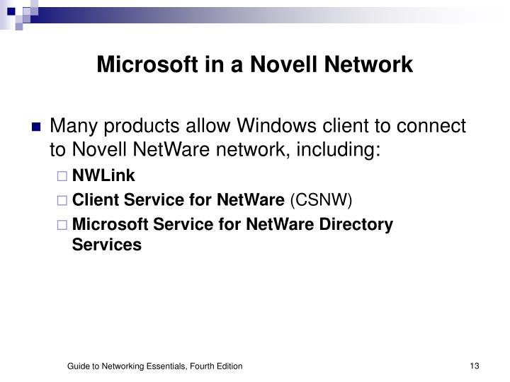 Microsoft in a Novell Network