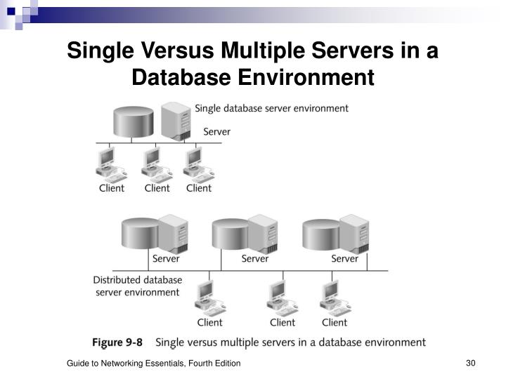Single Versus Multiple Servers in a Database Environment