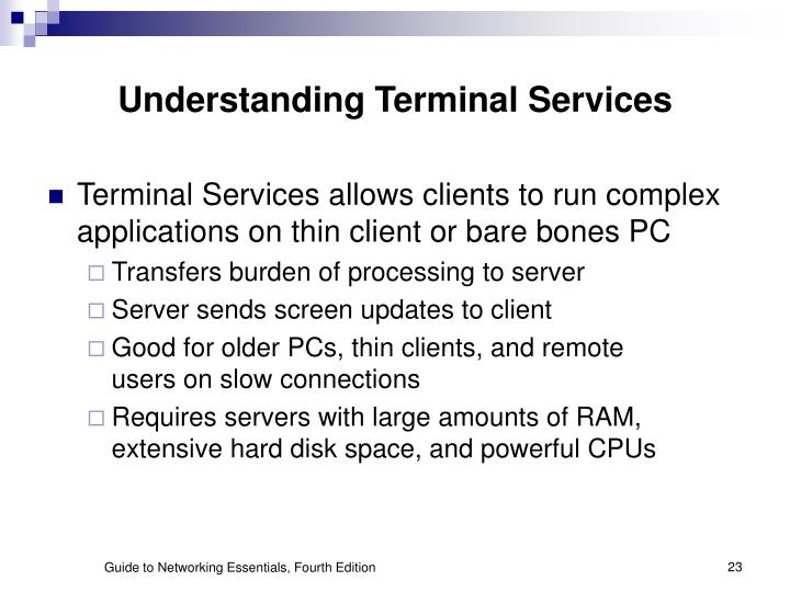 Understanding Terminal Services