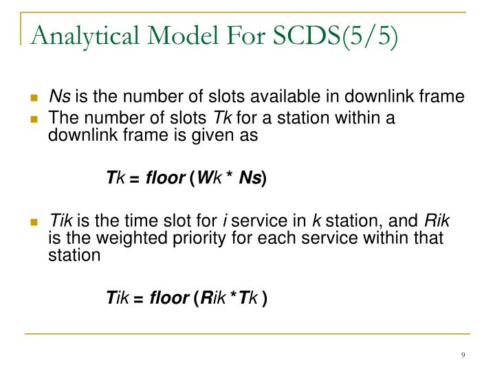 Analytical Model For SCDS(5/5)