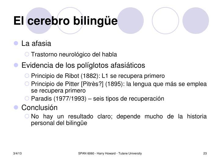 El cerebro biling