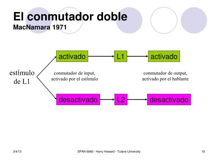 El conmutador doble