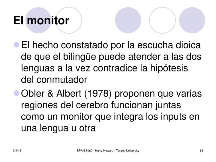 El monitor