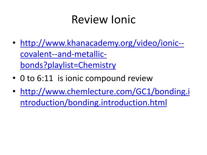 Review ionic