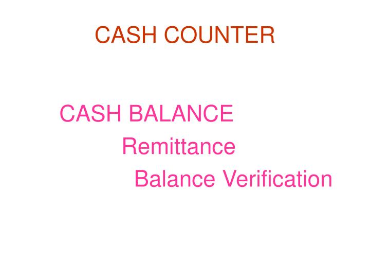 Cash counter1