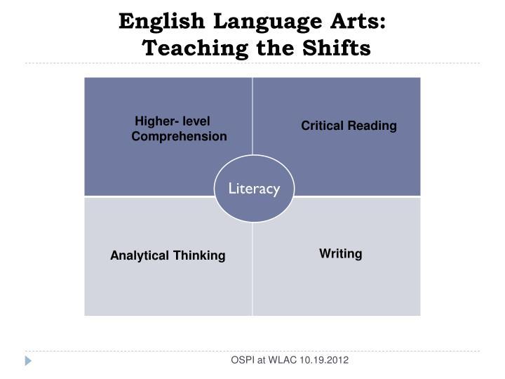 English Language Arts: