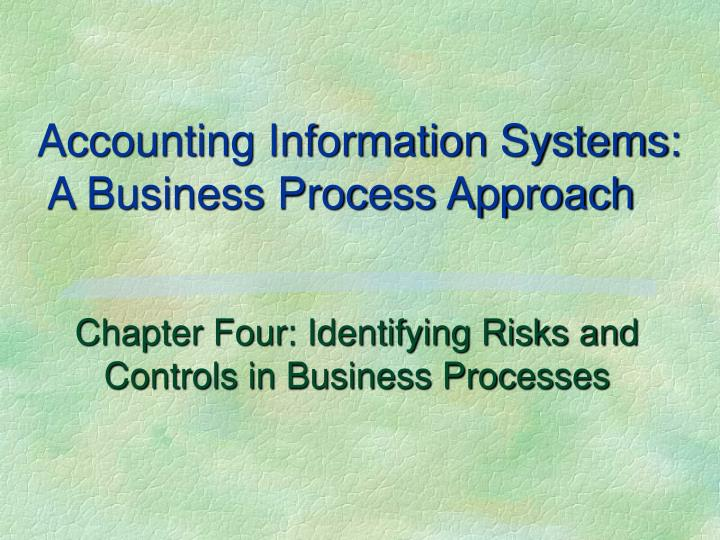 Accounting Information Systems:
