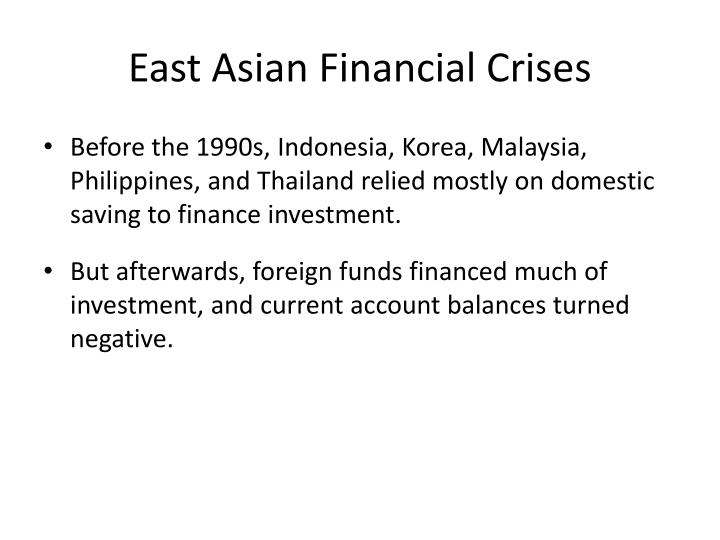 East Asian Financial Crises