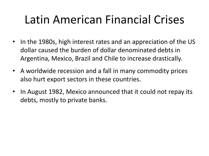 Latin American Financial Crises