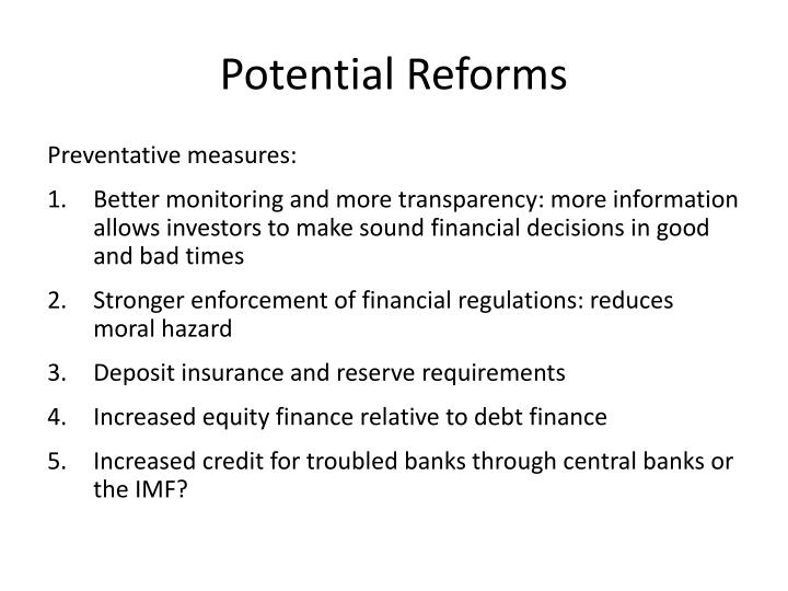 Potential Reforms