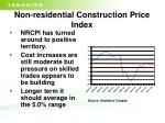 non residential construction price index