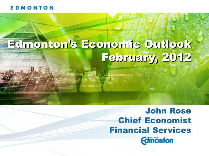 Edmonton's Economic Outlook