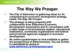 the way we prosper