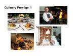culinary prestige