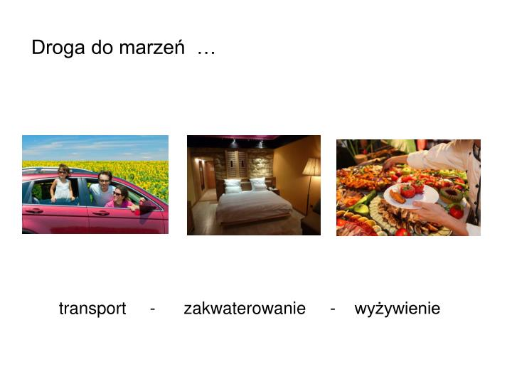 Droga do marzeń  …